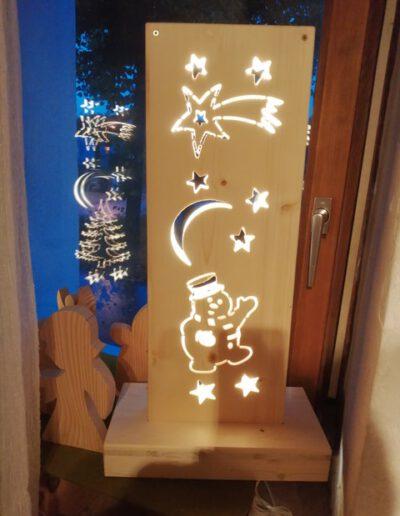 Fichtenholz Lampe Nacht